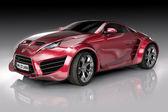 Kırmızı spor araba — Stok fotoğraf