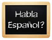Habla Espanol ? — Stock Photo