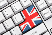 Union Jack Button — Foto de Stock