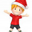 Happy boy wearing santa hat — Stock Photo #45827769