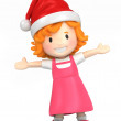 Happy girl wearing santa hat — Stock Photo #45827791