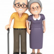 3D render of a happy old couple — Stock Photo #45828215