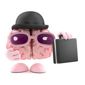 3d render of a brain dressed as a businessman — Stock Photo
