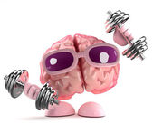 3d render of a brain working out — Stock Photo