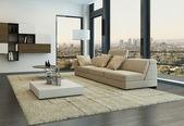 Contemporary living room loft interior — ストック写真