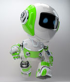 Modern walking robotic toy in bright colors — Stock Photo
