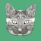 Decoratieve kat — Stockvector