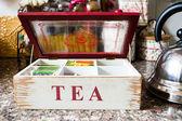 Konvice čaj čas — Stock fotografie