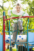 A child on outdoor playground — Stock Photo