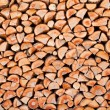 Stock Photo: Stack of dried firewood of birch wood