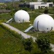 Stock Photo: Gas storage spheres, industrial storage facility