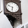 Old stylish external clock — Stock Photo #40607109