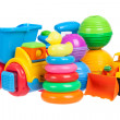 Baby toys collection isolated on white — Stock Photo #42110255