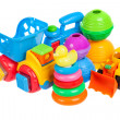 Baby toys collection isolated on white — Stock Photo #42311899