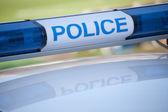Police car sign. siren light — Stock Photo