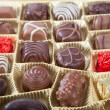 Box of various chocolate candies — Stock Photo #43047025