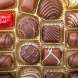 Box of various chocolate candies — Stock Photo #43312005