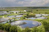 下水処理のための建設をクリーニング — ストック写真