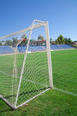 Net soccer goal football green grass — Стоковое фото