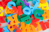 Colorful letters background. — Stock Photo