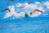 Water polo action in a swimming pool — Foto Stock