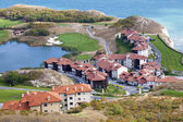 An aerial view of the golf resort on the coast — Stock Photo