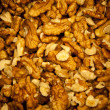 Walnut seeds background — Stock Photo