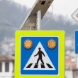 Solar powered street sign — Stock Photo #46226339