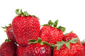 Close up of fresh strawberries, isolated — Stock Photo