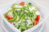 Fresh summer vegetable salad — Stock Photo