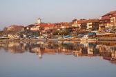 view of Nessebar, ancient city on the Black Sea coast of Bulgaria — Stock Photo
