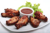 Chicken Wings with Red Sauce — Stock Photo