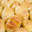 Close up of delicious baked potatoes — Stock Photo #48936451