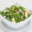 Green salad with eggs and radishes — Stock Photo #48936887