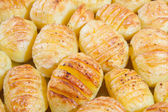 Close up of delicious baked potatoes — Stok fotoğraf