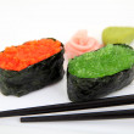 Sushi gunkan with caviar, tobiko. Traditional japanese food — Stock Photo #50346721
