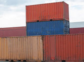 Containers at the port — Stock Photo