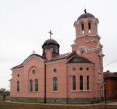 粉红色的教会 — 图库照片