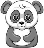 Cartoon panda — Stock Vector