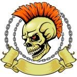 Постер, плакат: Punk skull