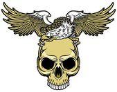 Adler und totenkopf — Stockvektor
