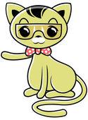Funny cat 04 — Stock Vector
