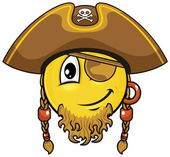 Pirate smiley 03 — Stock Vector