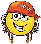 Pirate smiley 01 — Stock Vector