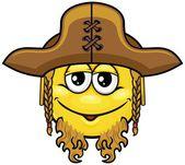 Pirate smiley 08 — Stock Vector