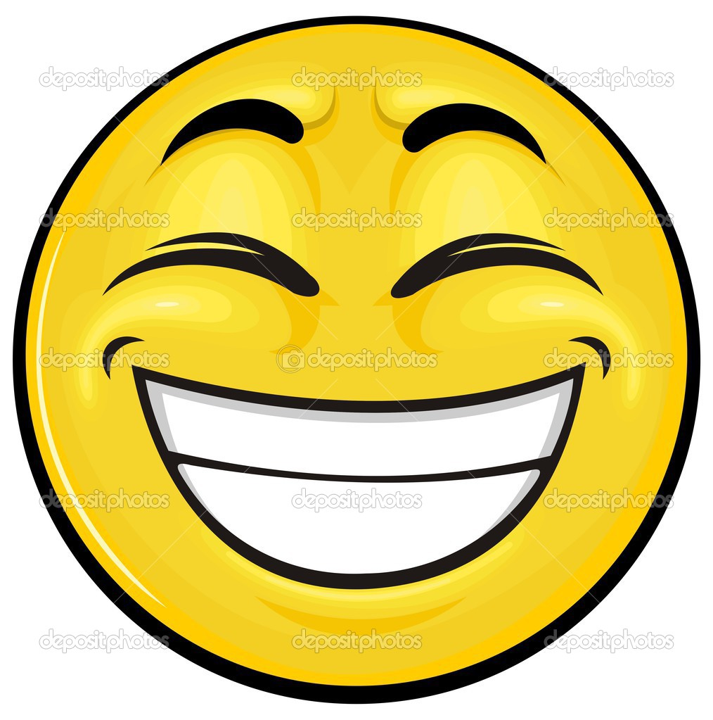 滑稽的表情矢量卡通黄色笑脸– 图库插图