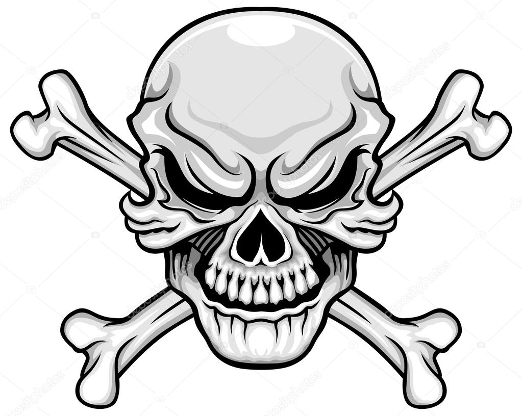 skull and bones coloring pages - skull and bones colouring pages