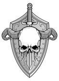 悪魔の騎士 — ストックベクタ