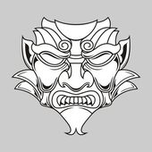 Traditional mask — Vector de stock