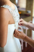 Bride getting ready — Stock Photo